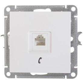 Телефонная розетка встраиваемая Schneider Electric W59 RJ11, цвет белый