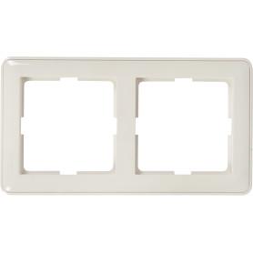 Рамка для розеток и выключателей Schneider Electric W59 2 поста, цвет белый