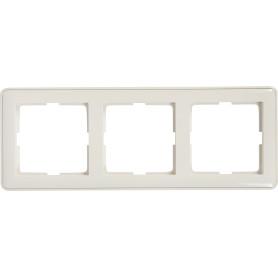 Рамка для розеток и выключателей Schneider Electric W59 3 поста, цвет белый
