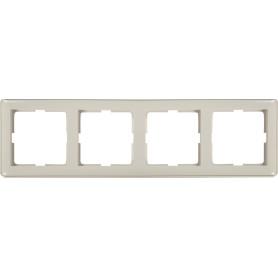 Рамка для розеток и выключателей Schneider Electric W59 4 поста, цвет белый