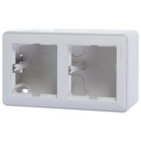Коробка подъемная Schneider Electric W59 двуместная цвет белый