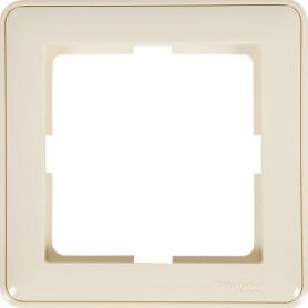 Рамка для розеток и выключателей Schneider Electric W59 1 пост, цвет слоновая кость