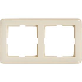 Рамка для розеток и выключателей Schneider Electric W59 2 поста, цвет слоновая кость