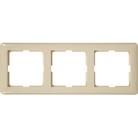 Рамка для розеток и выключателей Schneider Electric W59 3 поста, цвет слоновая кость