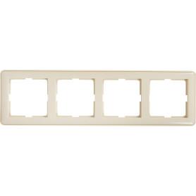 Рамка для розеток и выключателей Schneider Electric W59 4 поста, цвет слоновая кость