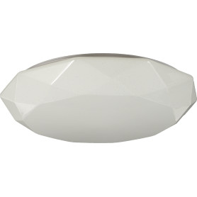 Светильник настенно-потолочный светодиодный 60 Вт, 50 см, цвет белый, пульт