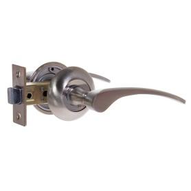 Комплект дверных ручек Фабрика замков 10L 100, цвет матовый никель