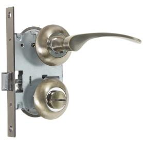 Комплект для межкомнатной двери Фабрика Замков 10L 170 BK, с фиксатором, цвет бронза