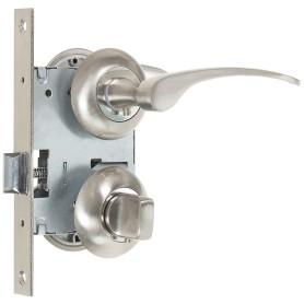 Комплект для межкомнатной двери Фабрика Замков 10L 170 BK, с фиксатором, цвет матовое серебро