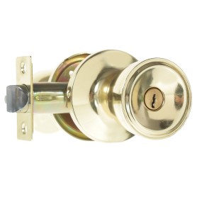 Ручка-защёлка Фабрика Замков 7072E PB ET, с ключом и фиксатором, цвет глянцевое золото