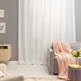 Тюль на ленте Amina, 300х280 см, однотонный, цвет белый