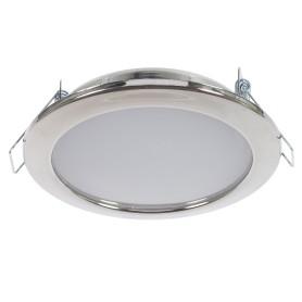 Светильник встраиваемый светодиодный 6 Вт, 4000K 550Lm 220В, цвет хром