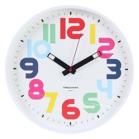 "Часы настенные ""Цифры"" разноцветные диаметр 30 см"