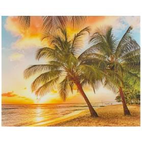 Картина на стекле 40х50 см «Закат на пляже»