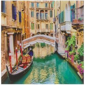 Картина на стекле 30х30 см «Каналы Венеции»