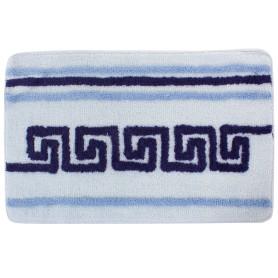 Коврик для ванной комнаты «Орнамент» 50х80 см цвет голубой
