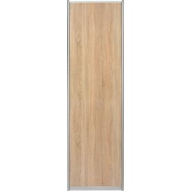 Дверь-купе Spaceo 2455х704 см, цвет дуб сонома/серебро