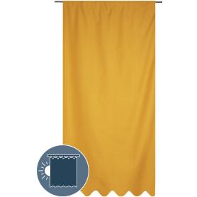 """Штора на ленте со скрытыми петлями блэкаут """"Майами"""" 200х280 см цвет жёлтый"""