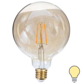 Лампа светодиодная Uniel Vintage шар E27 8 Вт 680 Лм свет тёплый белый