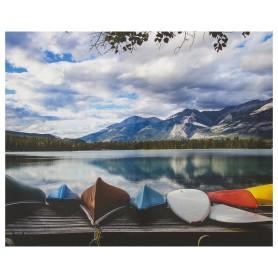 Картина на холсте «Лодки у озера» 40х50 см