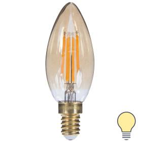 Лампа светодиодная Uniel Vintage свеча E14 5 Вт 420 Лм свет теплый белый
