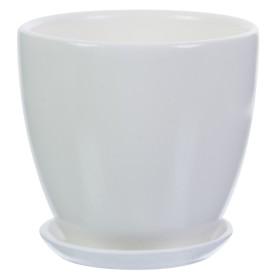 Горшок цветочный «Колор гейм» D12, 0, 8л., керамика, Белый