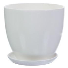 Горшок цветочный Колор Гейм ø18 h16.5 см v2.6 л керамика белый