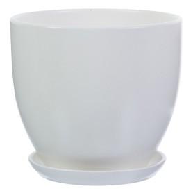 Горшок цветочный Колор Гейм ø22 h20 см v4.8 л керамика белый
