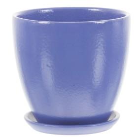 Горшок цветочный «Колор гейм» D12, 0, 8л., керамика, Синий