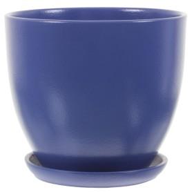 Горшок цветочный Колор Гейм ø22 h20 см v4.8 л керамика синий
