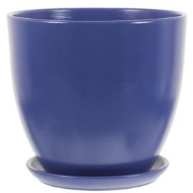 Горшок цветочный Колор Гейм ø26 h24 см v8.5 л керамика синий