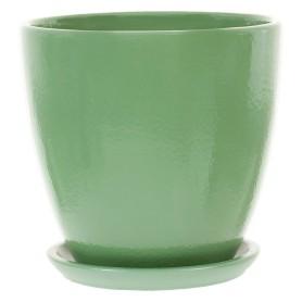 Горшок цветочный «Колор гейм» D12, 0, 8л., керамика, Зеленый