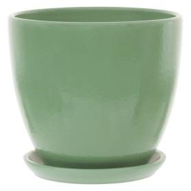 Горшок цветочный «Колор гейм» D15, 1, 5л., керамика, Зеленый
