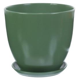 Горшок цветочный «Колор гейм» D22, 4, 8л., керамика, Зеленый
