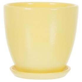 Горшок цветочный «Колор гейм» D12, 0, 8л., керамика, Жёлтый / золотой