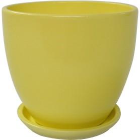 Горшок цветочный Колор Гейм ø18 h16.5 см v2.6 л керамика жёлтый