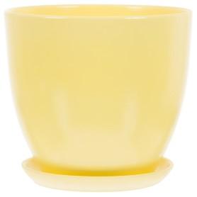 Горшок цветочный Колор Гейм ø26 h24 см v8.5 л керамика жёлтый
