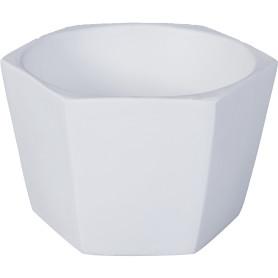 Кашпо цветочное «Эджес», D14, 0, 7л. керамика, Белый