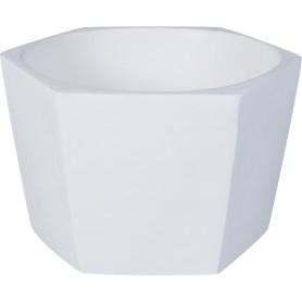 Кашпо цветочное «Эджес», D18, 1, 5л. керамика, Белый
