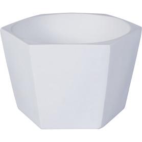 Кашпо цветочное «Эджес», D22, 2л. керамика, Белый