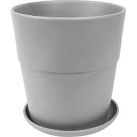 Кашпо Аллой ø22 h23 см v6 л керамика серый