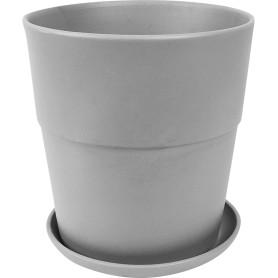 Кашпо Аллой ø26 h27 см v10 л керамика серый