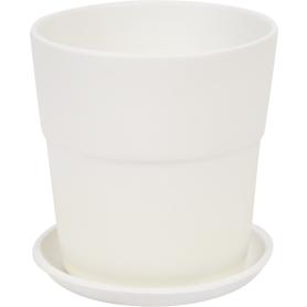 Кашпо цветочное «Уайт», D12, 0, 8л. керамика, Белый