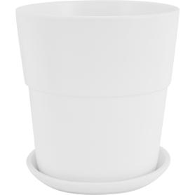Кашпо Уайт ø26 h27 см v10 л керамика белый