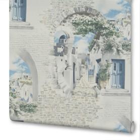 Обои флизелиновые Мир Santorini белые 1.06 м 45-215-02