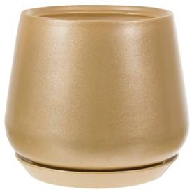 Горшок цветочный Скарлет ø28 h31 см v19 л керамика золотой