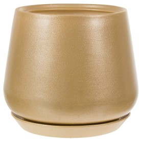 Горшок цветочный Скарлет ø19 h22 см v5.5 л керамика золотой