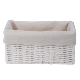 Корзинка плетеная 10х10х20 см, цвет белый/мята/коричневый/красный