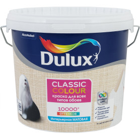 Краска для обоев Dulux Classic Colour база BW 5 л