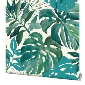 Обои флизелиновые Rasch Selection Vinyl Vlies зелёные 0.53 м 526608